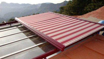 Sistema veranda sobre techo de cristal